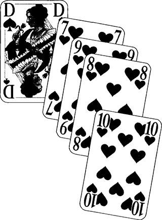 Häufeln und Herzein - Spielkarten und Spielverlauf37