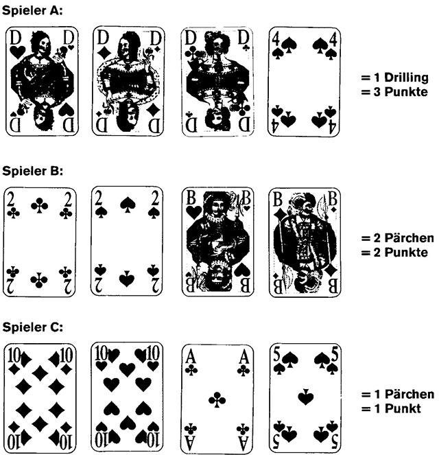 Domino Spielkarten und Spielverlauf100
