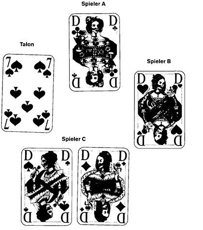 Farbenjagd und Hexenjagd Spielkarten und Spielverlauf104