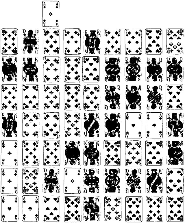 Russische Patience und Streitpatience Spielkarten und Spielverlauf145
