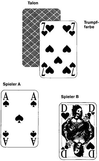Briscola Spielkarten und Spielverlauf19