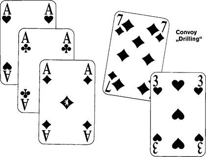 Convoy Spielkarten und Spielverlauf 29