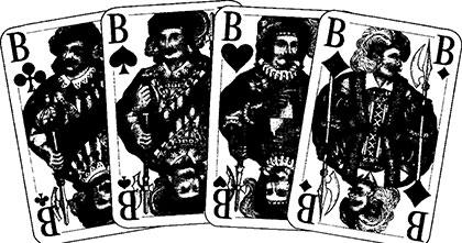 Skat Spielkarten, Spielverlauf und Taktik 68