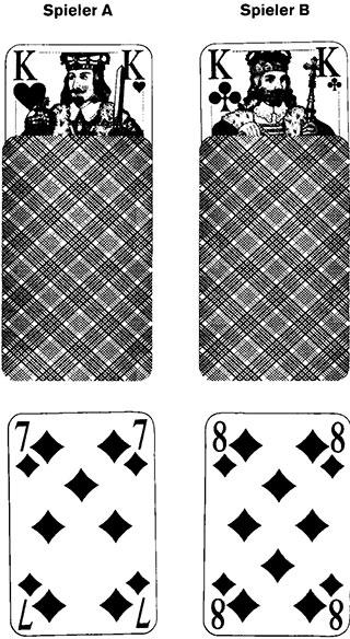 Bettelmann und Bierdeckel Spielkarten und Spielverlauf 94