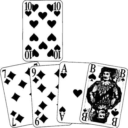 Domino Spielkarten und Spielverlauf98