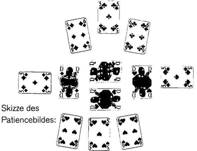 Auf Wiedersehen und Damenquadrille Spielkarten und Spielverlauf 135