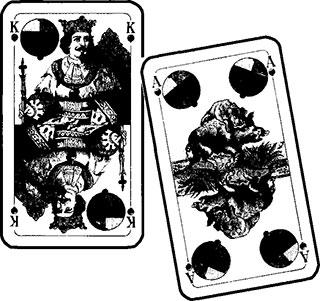 Böhmischer Schneider und Brandeln Spielkarten und Spielverlauf 15