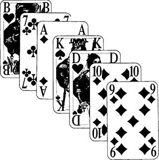 Böhmischer Schneider und Brandeln Spielkarten und Spielverlauf 17