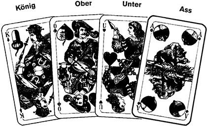 Tarock, Haferltarock Spielverlauf und Taktik76