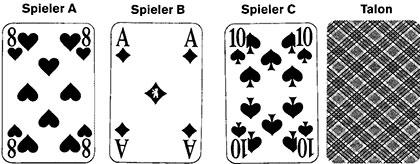 Aschenputtel und Authors Spielkarten und Spielverlauf 90